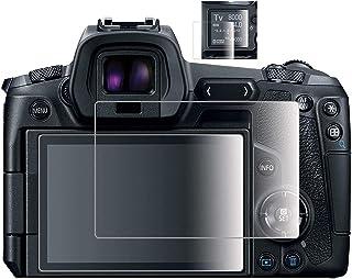 Komet Protector de pantalla de cristal compatible con Canon EOS R EOSR LCD + pantalla de hombro película de cristal templado para Canon eosr cámara digital (4 unidades)