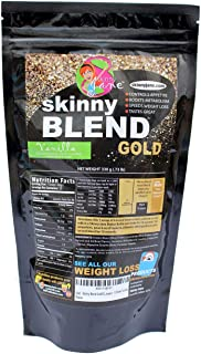 Sale! - Skinny Blend Gold! Best Tasting Protein Shake for Women, Delicious Smoothie - Weight Loss - Low Carb - Diet Supplement - Weight Control - Appetite Suppressant (15 Servings, Vanilla)