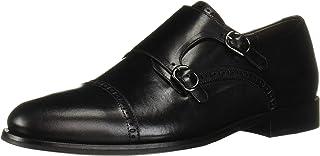 MARC JOSEPH NEW YORK Men oxford's Leather Double Monk Dress Shoe, Black Nappa, 8.5