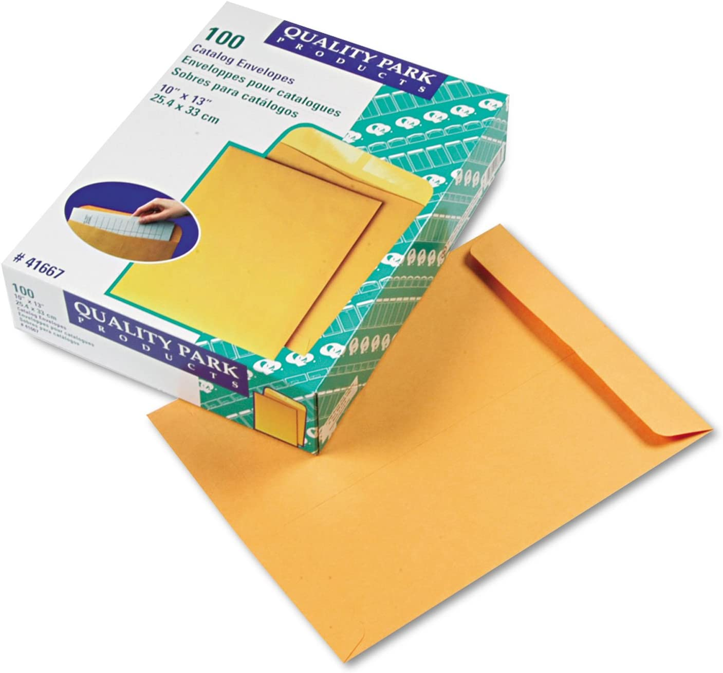 Quality Park Finally resale start 41667 Catalog Envelope 10 Japan's largest assortment 100 Kraft x B Brown 13