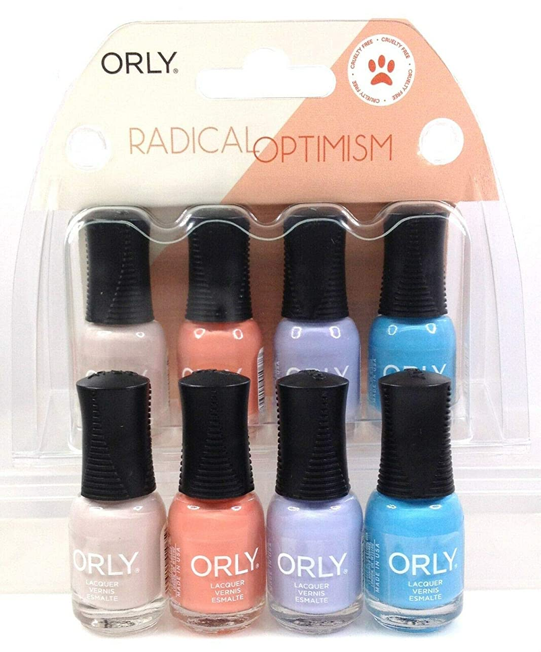 先生掃くオンスOrly Nail Lacquer - Radical Optimism 2019 Collection - Mini 4 Pack - 5.3mL / 0.18oz