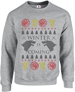 Graphic Impact Inspired Winter Coming Funny Game to Get The Thrones Ugly Sweater Christmas Printed Adult Sweatshirts