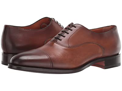 Santoni Kenneth Cap Toe Oxford (Brown) Men