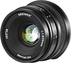 Neewer 25mm f/1,8 Lente Gran Angular de Gran Apertura Enfoque Manual Lente Fija APS-C Prime Compatible con Cámaras EF-M con Montura EOS-M Canon EOS M M2 M3 M5 M6 M10 M50 M100, etc.