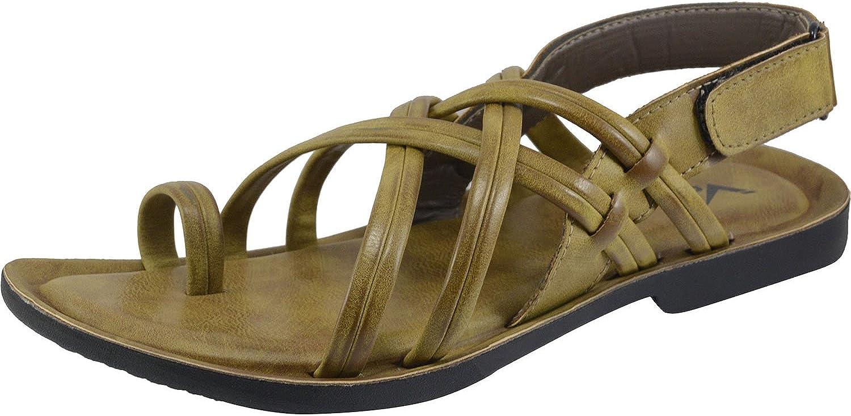 Vonzo Men Khaki Lightweight, Flexible Flexible and Comfortable Sandal V2005  zeitloser Klassiker