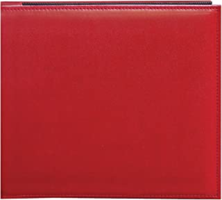 Pioneer SL-88RD 8 Inch by 8 Inch Snapload Sewn Leatherette Cover Memory Book, Red
