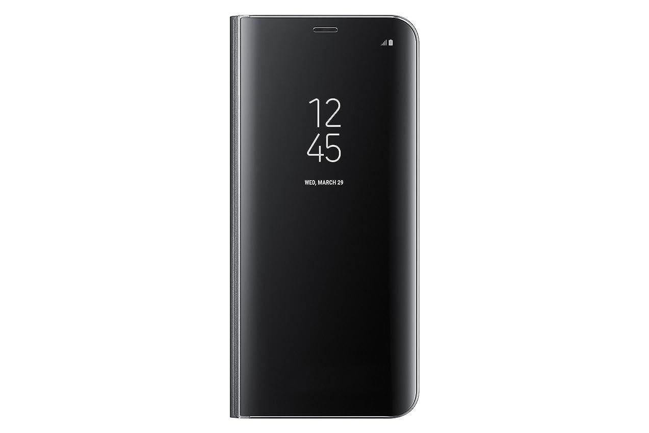 グラフオーブン盲信Samsung サムスン 純正品 Galaxy S8+ クリアビュー Clear View Standing Cover 手帳型 ケース カバー【並行輸入品】 (Black)