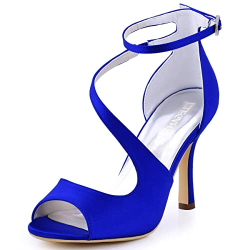 como encontrar detalles para Productos Sandalias Tacon Azul: Amazon.es