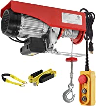 Partsam 2200 lbs Lift Electric Hoist Crane Remote Control Power System, Zinc-Plated Steel..