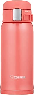 Zojirushi SM-SC36PV Stainless Mug, 12-Ounce, Coral Pink