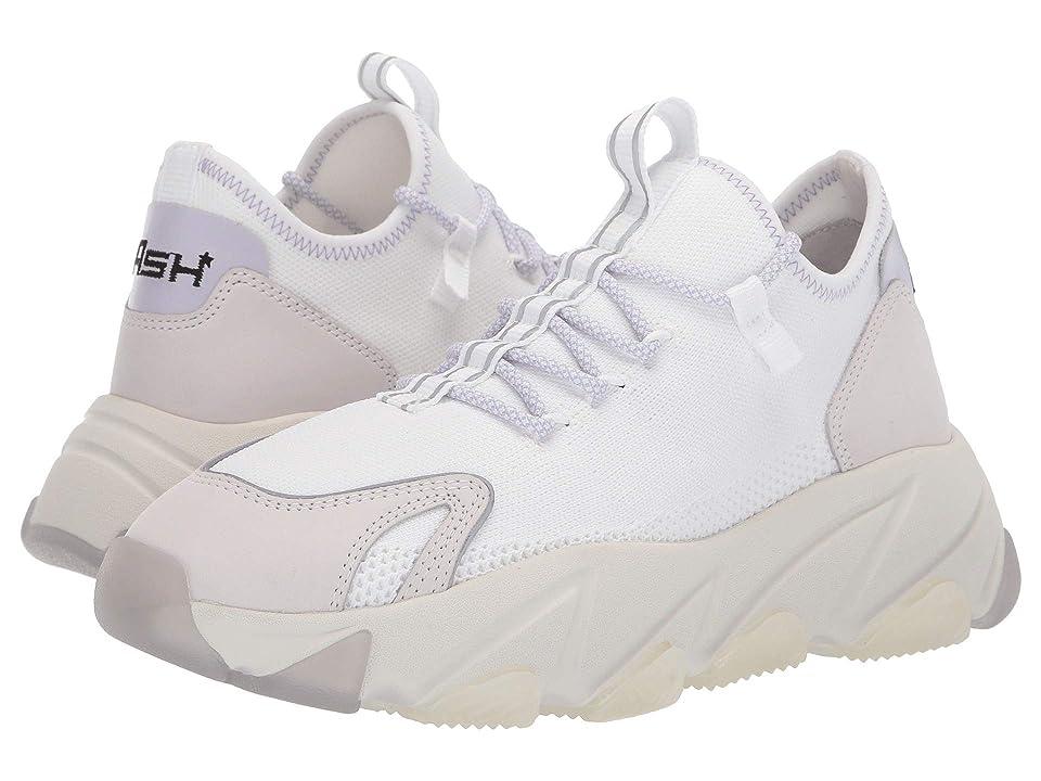 ASH Excape (Nubuck White/Reflex Jersey Silver/Knit White/White/Gross Grain W) Women