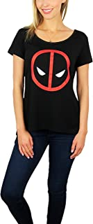Marvel Womens Deadpool Logo Hi-Lo Tee Black