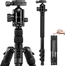 VICTIV Camera Tripod 81 inches Monopod, Aluminum Travel Tripod for DSLR, Lightweight Tripod Loads Up to 19 lbs with 360 De...