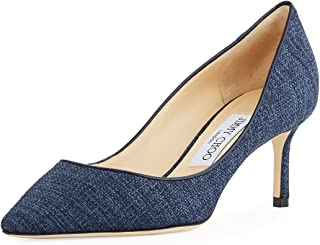 fd80a3fc532ec JIMMY CHOO Romy 60mm Canvas Pump Shoes 38.5 Blue