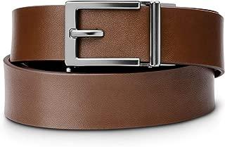 "KORE Men's Top-Grain Leather Track Belts | ""Express"" Gunmetal Buckle"