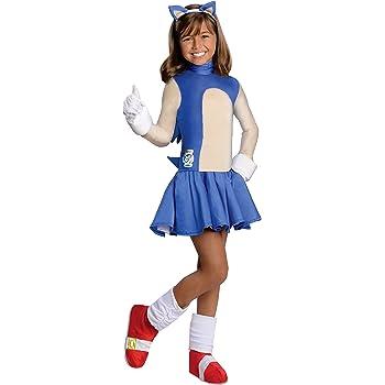 Amazon Com Sonic The Hedgehog Girls Sonic Costume Large Toys Games