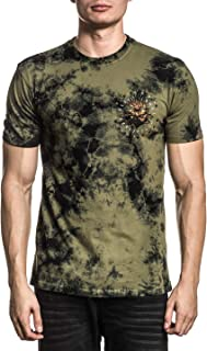 Affliction Men's Graphic T-Shirt, Forged in Flames Variant, Short Sleeve Crew Neck
