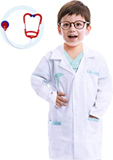 Spooktacular Creations Jr. Doctor Lab Coat Deluxe Kids Toddler Costume Set for Halloween Scrub Dress Up Party and Scientis...