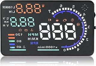 A8 هاه عرض التأسيس OBD2 نظام تحذير مطلي بالسرعة الزجاجية جهاز إنذار عالمي