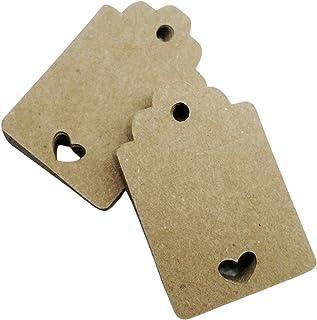 50 pezzi, Cartellini carta kraft vuoti per bomboniera, 30x45 millimetri bomboniere, avana, etichette,matrimonio, battesimo...