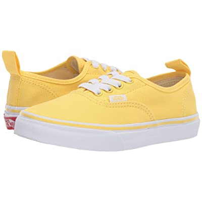 Vans Kids Authentic Elastic Lace (Little Kid/Big Kid) (Aspen Gold/True White) Girls Shoes