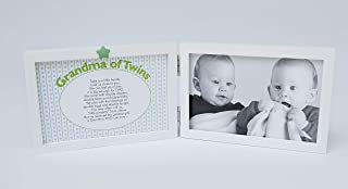 The Grandparent Gift Co. Sweet Somethings Unisex Picture Frame for Grandma of Twins