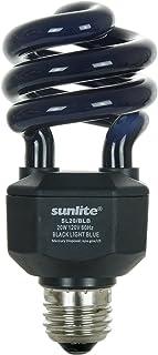 Sunlite SL20/BLB 20 Watt Spiral Energy Saving CFL Light Bulb Medium Base Blacklight Blue