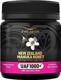 FREZZOR Manuka Honey UAF1000+, New Zealand Manuka Honey, Cold & Flu Symptom Relief, Infused with Noel Turner's UAF1000+ Se...