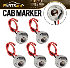 Partsam 5X T10 Replacement Plug Sockets Extended Wiring Harness Pigtail for Cab Roof Running Marker Light