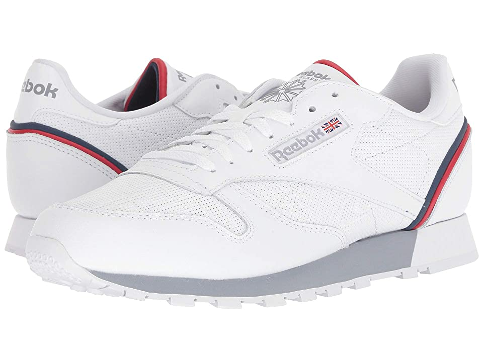Reebok Lifestyle Classic Leather MU (White/Navy/Red Shadow) Men
