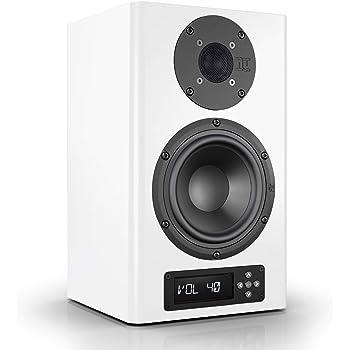 Nubert nuPro A-200 Regallautsprecher   Lautsprecher für Stereo & Musikgenuss   Schreibtischlautsprecher für Homeoffice   aktive Regalbox mit 2 Wege Technik   Kompaktlautsprecher Weiß   1 Stück