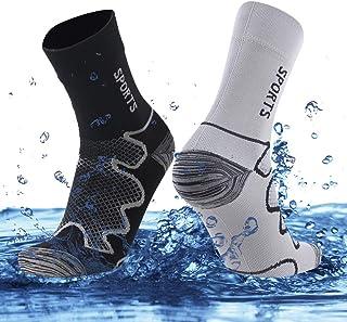 SuMade Unisex Women's Men's Dry Fit Breathable Waterproof Hiking Crew Socks