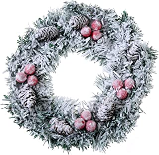 Best snow covered wreath Reviews