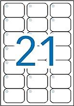 APLI 12328 - Etiquetas blancas especial congelador 63,5 x 38