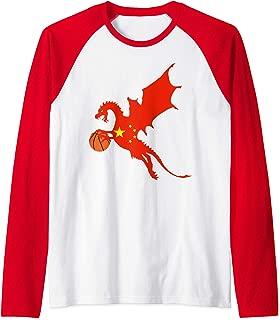 China Basketball Jersey China Dragon Flag Gift Raglan Baseball Tee