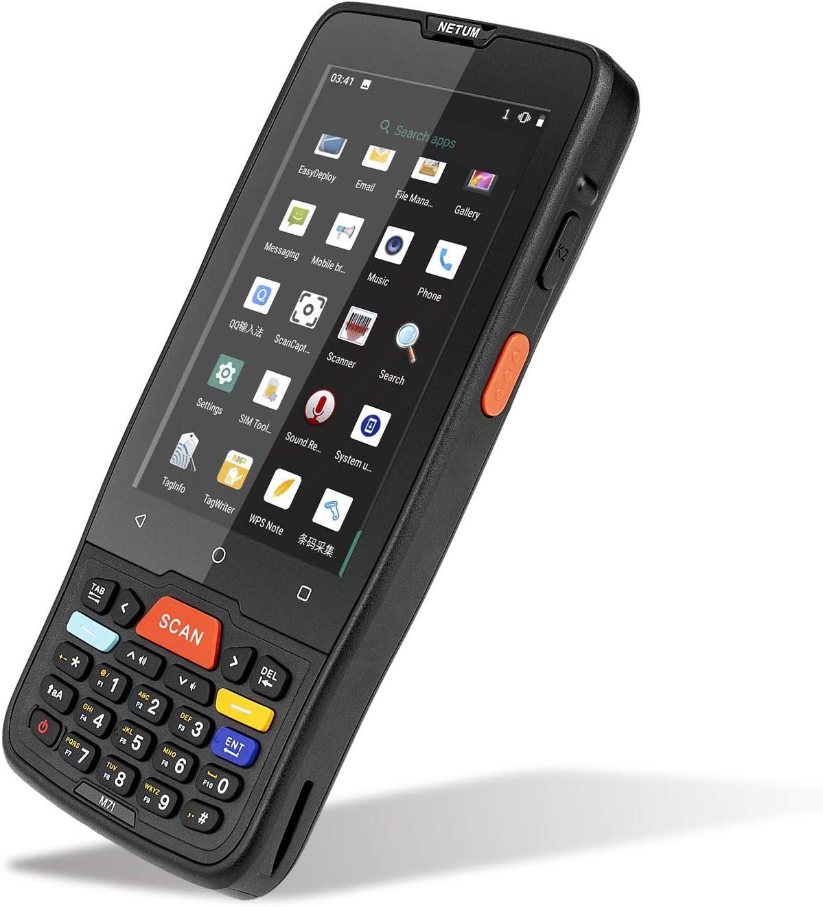 NETUM PDA de mano Android Terminal 2D Escáner de código de barras LCD de 4 pulgadas Pantalla táctil con WiFi 4G Bluetooth GPS PDA Lector de códigos de barras