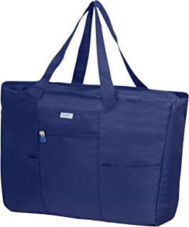 Samsonite Global Travel Accessories - Sac Cabas Pliable, 39 cm, Bleu (Midnight Blue)