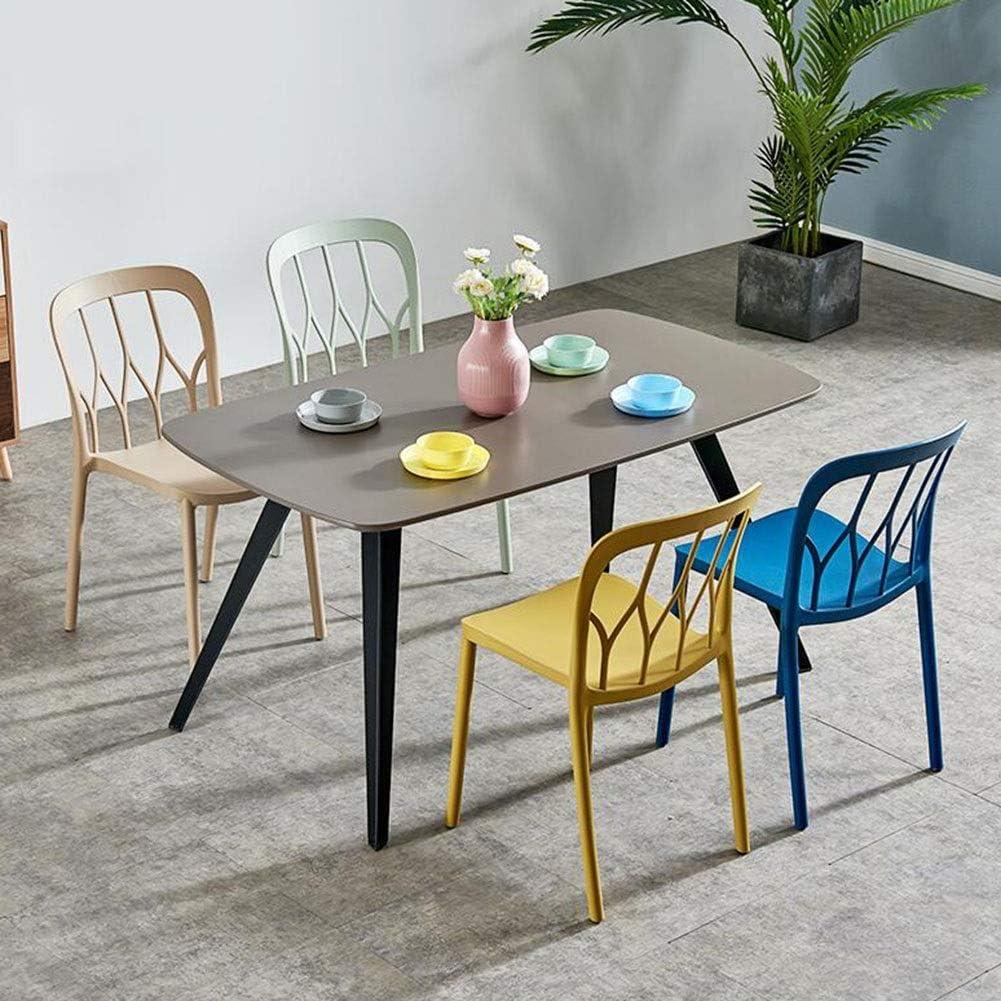 Dall Chaise De Salle À Manger en Plastique Pack-2 Empilable Chaise De Table d'apprentissage Chambre Le Salon Multicolore en Option (Color : Blue) Yellow