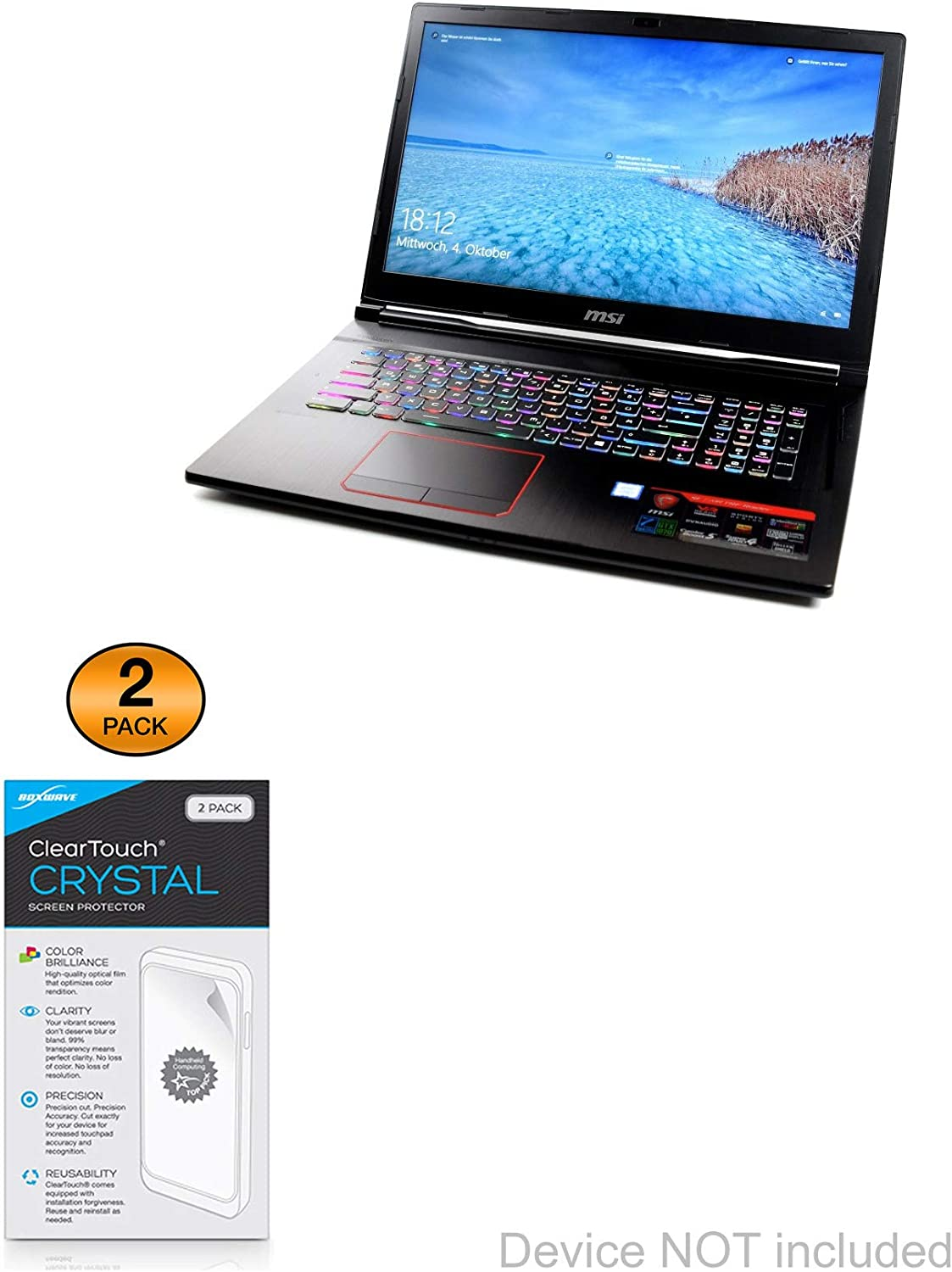 Max Daily bargain sale 46% OFF MSI GE73VR Raider Screen Crystal BoxWave® ClearTouch Protector