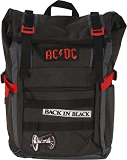 AC/DC Black Roll-Top Backpack Standard