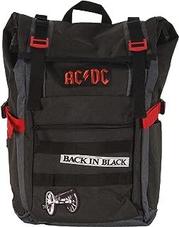 AC/DC Black Roll-Top Backpack Standard