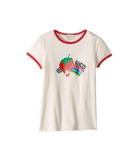 2037f29c Gucci Kids Strawberry Print T-Shirt (Little Kids/Big Kids) at Luxury ...