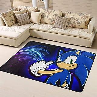 Zmacdk Sonic The Hedgehog - Alfombra de área grande antideslizante para niños (180 cm x 270 cm), Sonic Sonic The Hedgehog ...