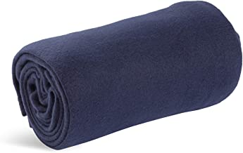 World's Best Cozy-Soft Microfleece Travel Blanket, 50 x 60 Inch, Navy, Great for Travel or Lounging at Home, Pack of 1