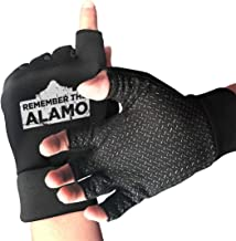 NUKMTAOER Distressed 1836 Texas Alamo Gym Gloves Workout Gloves Rowing Gloves Exercise Gloves Cross Training for Men & Women