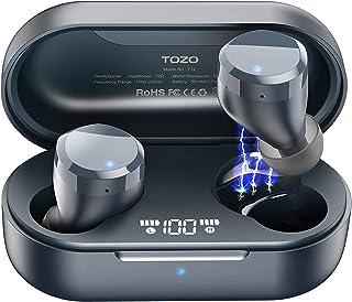 TOZO T12 Wireless Earbuds Bluetooth Headphones Premium Fidelity Sound Quality Wireless Charging Case Digital LED Intellige...