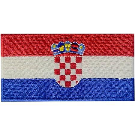 Bandiera della Croazia Termoadesiva Cucibile Ricamata Croato Nazionale Toppa