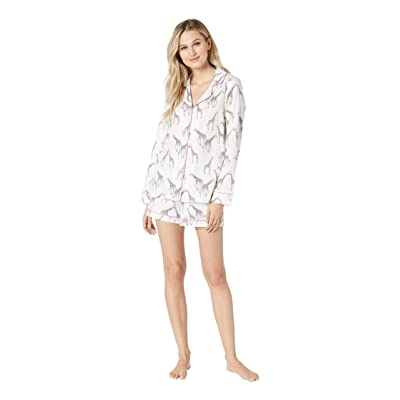 BedHead Pajamas Long Sleeve Classic Sateen Shorty Set (Love At Great Heights) Women