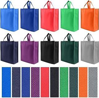 حقيبة يد بقالة قابلة لإعادة الاستخدام حجم كبير 10 عبوات