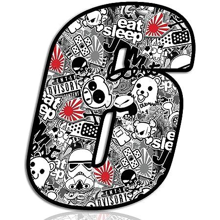 Biomar Labs 7 x PVC Autocollant Stickerbomb DC Bomb 3D Cr/âne Skull The Punisher Embl/ème Auto Moto Tuning Sticker Blanc Voiture D 16